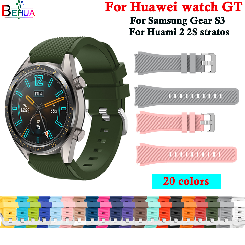 Gear S3 Sport Watch Band For Samsung Galaxy 46mm Frontier/Classic Smart Watch Strap Replace Wristband Bands For Huawei Watch GT