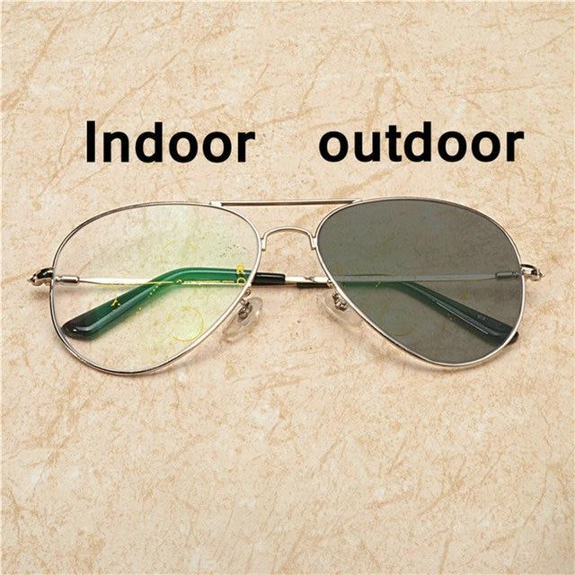 0bfaed0049c9 Men pilot super large frame progressive multifocal lens retro sun  photochromic reading glasses outdoor sunglasses uv400 NX