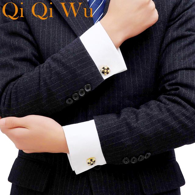 Luxury Shirt Cufflink Cuff Button Wedding Link High Gold Abotoaduras Jewelry