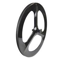3 Spoke Carbon Wheel Fixed Carbon Bike Wheelset Tri Spoke Wheels White Black Red Carbon Wheels