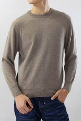 100%Cashmere Sweater Men 's Pullover O neck Solid Gray Casual Style High Quality Natural Fabric Free Shipping Stock Clearance