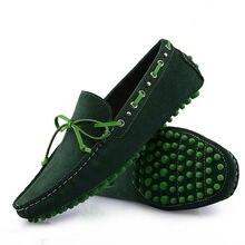 Новый ЗАМШИ Телячьей Кожи Повседневная Кружева Поскользнуться На Loafer Мужская Мода Автомобилей Обувь 6 Цвета