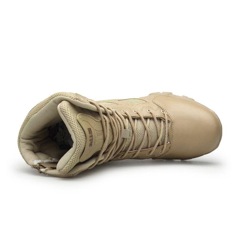 Militaire Randonnée Hommes Désert Tactique Air L'armée Militares Plein 2018 Haute 41 En camel Lebaluka Chaussures Combat Taille top 46 De Bottes Noir SMVqUpzG
