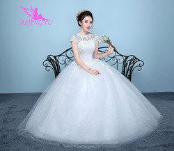 AIJINGYU 2018 elegant free shipping new hot selling cheap ball gown lace up back formal bride dresses wedding dress WK136 6
