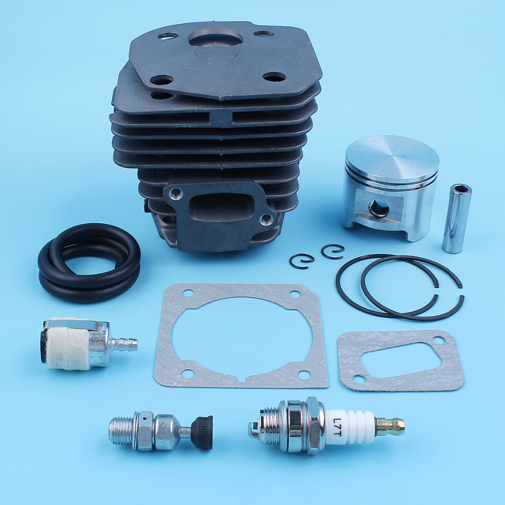 Nikasil Cylinder Piston Kit 45mm Big Bore Fits Husqvarna 353 351 350 346XP  EPA 345 340 Chainsaw Decompression Valve Fuel Filter