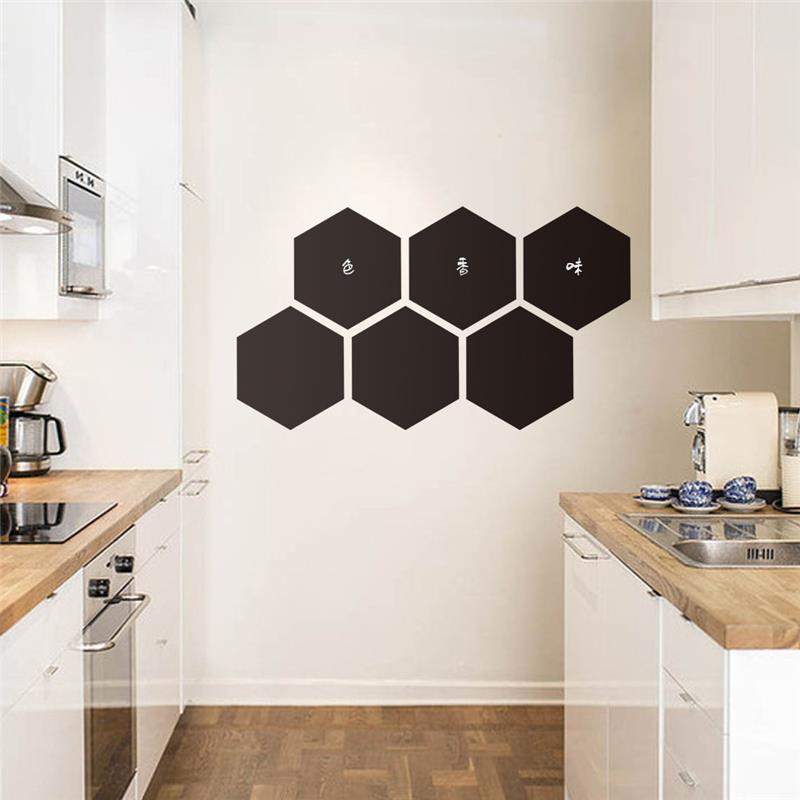 23 20cm Honeycomb Kitchen Wall Stickers Home Decor Wall Art Mural Kitchen Chalkboard