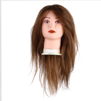 Professional High Quality 18 Inch Hairdressing Doll Training Practice Head Mannequin Silica Gel Model