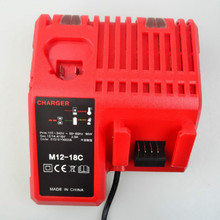 For Milwaukee M12-18C lithium battery charger milwaukee12V-18V battery charger M1218 chain saw battery greenworks gd40cs40 40v without battery and charger