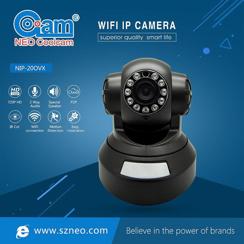 Cámara NEO Coolcam NIP-20OZX 720P IP red Wifi IR visión nocturna vídeo CCTV cámara de vigilancia de seguridad, soporte iPhone, Android NEO COOLCAM Z-wave Plus a casa una clave SOS y de Control remoto inteligente Sensor de automatización de Sensor