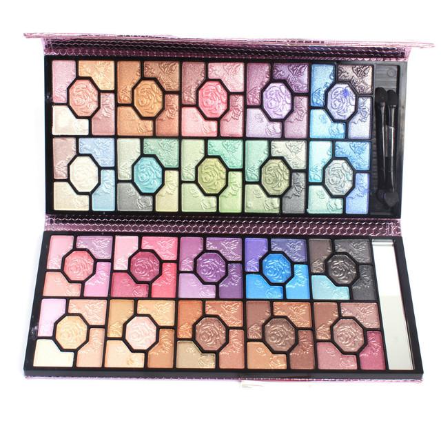 100 Cores Shimmer Eyeshadow Palette Cosméticos Maquiagem Natural Paleta Da Sombra de Olho Conjunto Fácil de Usar