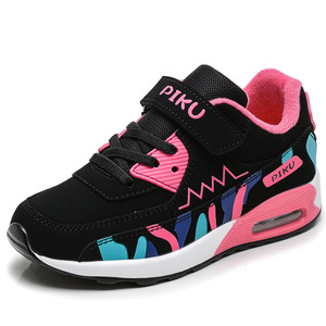 Image 4 - Sports Running Shoes Kids Girls Sneakers Teenager Trainers Breathable Casual Outdoor Tennis Shoes Girl Black Pink Big Size 37 38