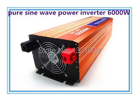 цена на Free shipping DC24V to AC220V CE RoHs power inverter 6000W pure sine wave power inverters 6KV solar power inverter, car inverter