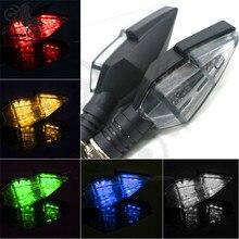 5 Colors Available LED motorcycle turn signal light motorbike indicator flasher for yamaha honda suzuki moto Accessoriescolorful