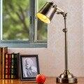 Luzes abajur de mesa ajustável lâmpadas breve ferro Retro Vintage banhado a mesa em mesa de cor de cobre clássico