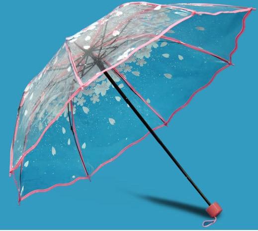 투명 플라스틱 PVC 나비 장미 꽃 패션 맑은 비오는 - 가정 용품 - 사진 2