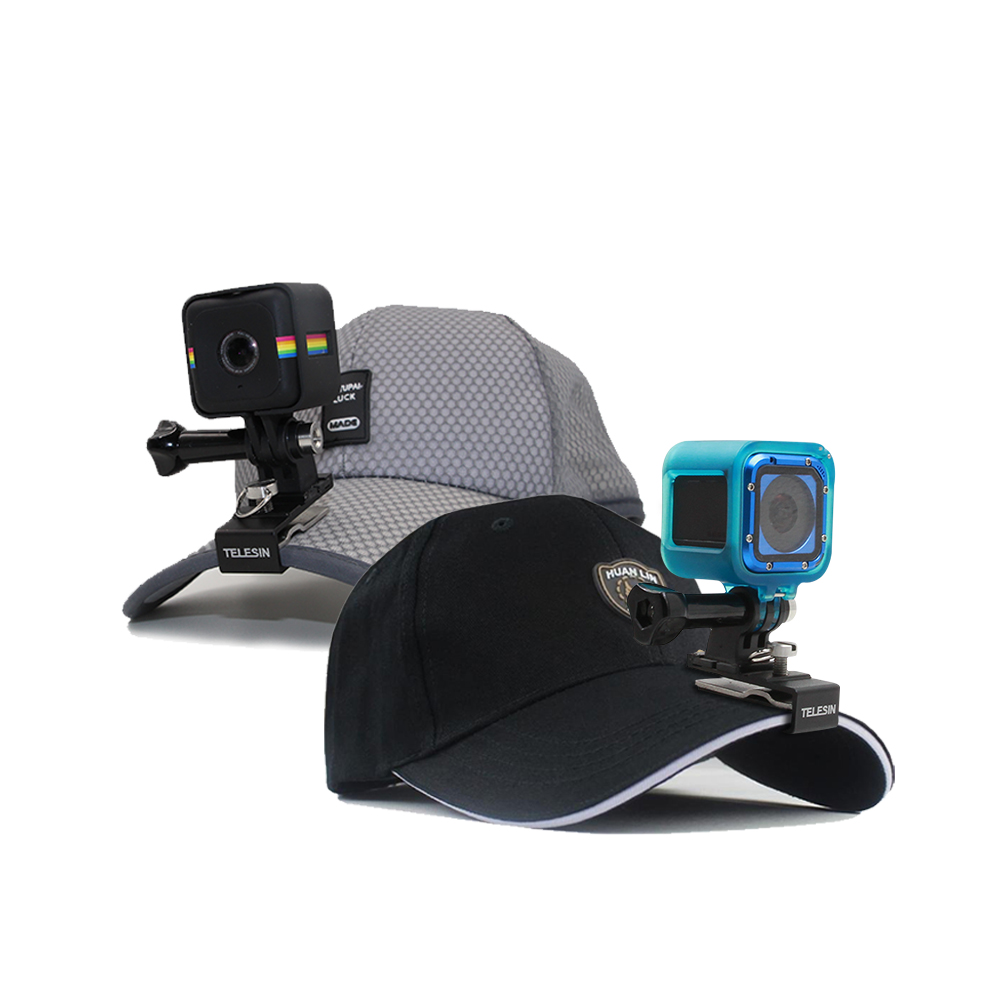TELESIN Stable Backpack Clip Clamp Cap Hat Clip Stand Mount + Screw for GoPro Hero 5 4 Session, Hero Session Accessories