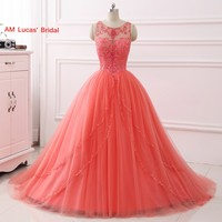 New Styles Quinceanera Dress Ball Gown Beaded Rhinestones Long Sweet 16 Years Party Gowns Vestido De 15 Anos Plus Size