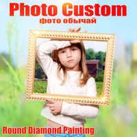 Huacan Foto Nach Diamant Stickerei Volle Runde Kristall Diamant Malerei Kreuz Stich Diamant Mosaik Kits Geburtstag Geschenk