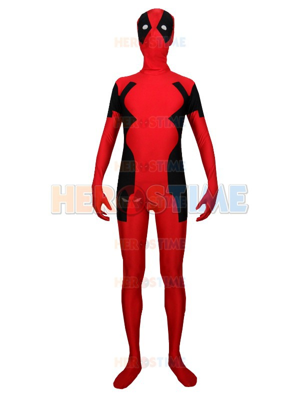 2015 Newest Style Spandex Deadpool Costume halloween cosplay fullbody adult Deadpool superhero costume zentai suit
