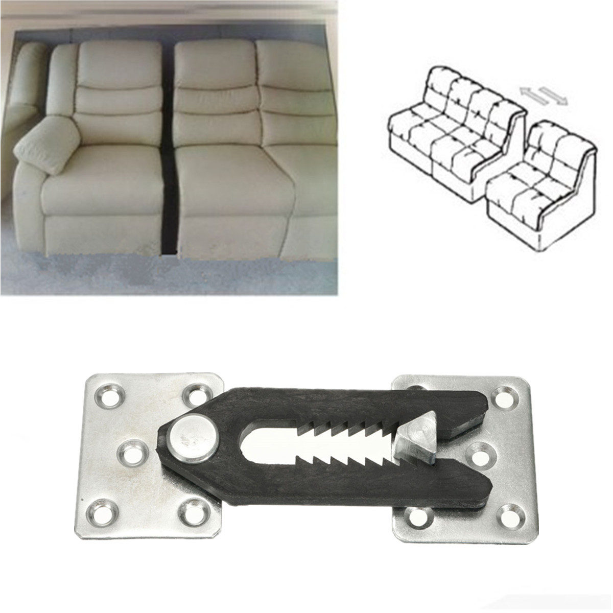 sofa couch sectional furniture connector joint snap alligator style lazy boy queen sleeper with air mattress new