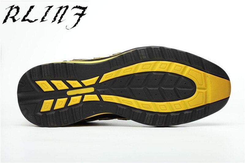 Os Aço Homens Trabalho Anti esmagamento Biqueira Leve Moda De Sapatos Segurança Rlinf Tendência Da RqHSxx