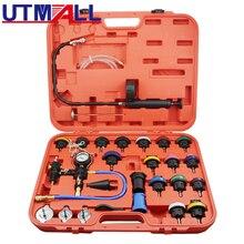 Testeur universel de pression de radiateur, Kit de système de refroidissement de Type vide, outil de remplacement, purgeur/adaptateur de recharge, 27 pièces