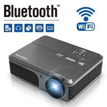 CAIWEI Smart LED Projector Android WIFI Proyector Bluetooth HD LCD Beamer for Home Cinema USB TF HDMI AV 1280×800 Resolution