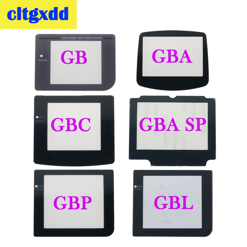 Cltgxdd Plastic Glass Lens For GB GBA SP GBC GBL GBP Screen Glass Lens For Gameboy Advance Color Lens Protector Lens