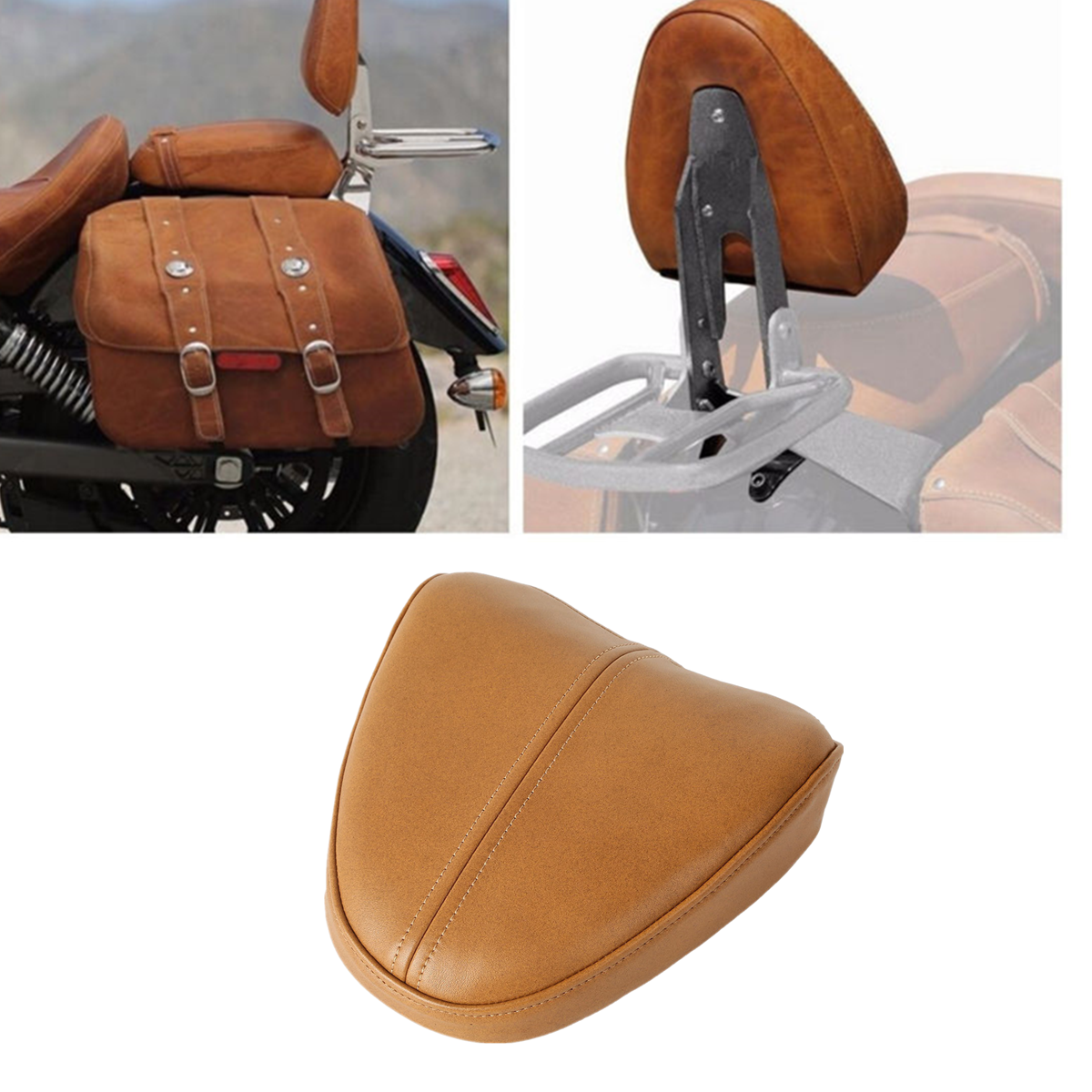 Desert Tan Passenger Sissy Bar Pad For Indian Scout Sixity 16-18 Scout 15-18 17 Bobber 2018 Replace 2880827-05