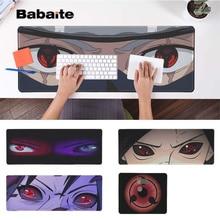 Babaite Simple Design Naruto eyes Locking Edge Mouse Pad Game Rubber PC Computer Gaming mousepad