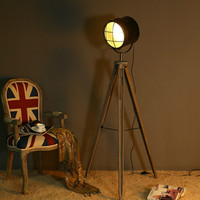 Vintage Retro Industrial Loft Wood Illumination Led E27 Floor Light For Living Room Bedroo Study Deco Lamp H160cm 2277