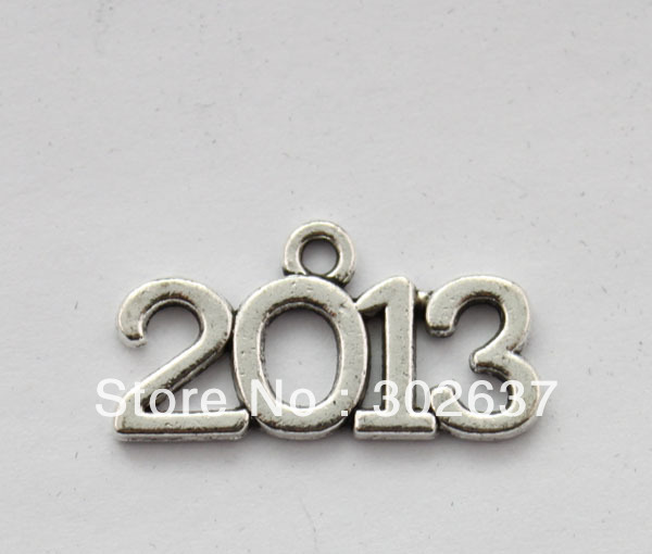 FREE SHIPPING 80PCS Fashion 2013 word charm Pendants A17638 Silver gold bronze colours