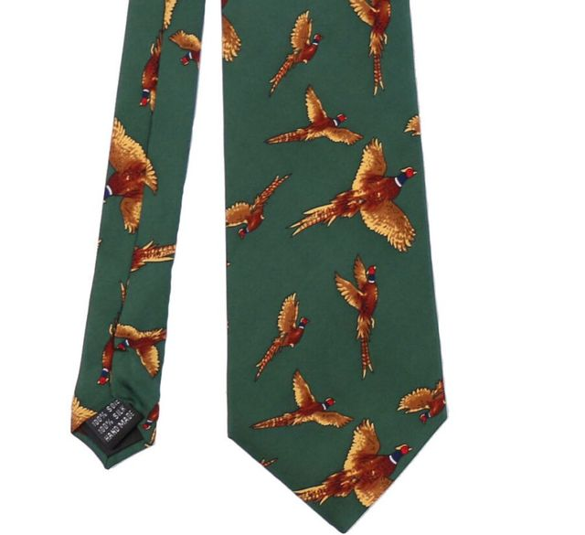 Smith a medida Para Hombre de Lujo Diseñador Animal Traje Vestido de Fiesta Informal Corbata Corbata Corbata De Seda Pura Impresa Caza Disparos Accesorios