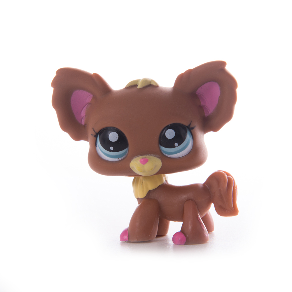 Classic Collection Original Lps Rare Pet Shop Standing Short Hair Cat Wearing Mask Animals Children Toys Gifts in Action Toy Figures from Toys Hobbies