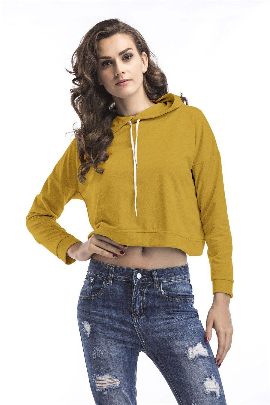 Gladiolus Spring Hooded Hoodies Women Long Sleeve Sexy Crop Top 2019 Short Slim Sweatshirt Women Loose Pullover Tracksuit Tops (11)