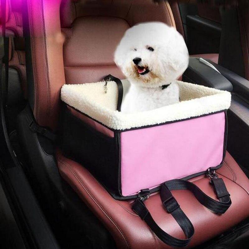 Pet детское сиденье с рисунком собачки и котика автомобилей сумка с мягкой овчины подкладка безопасности Carrier корзина кровать для путешестви...