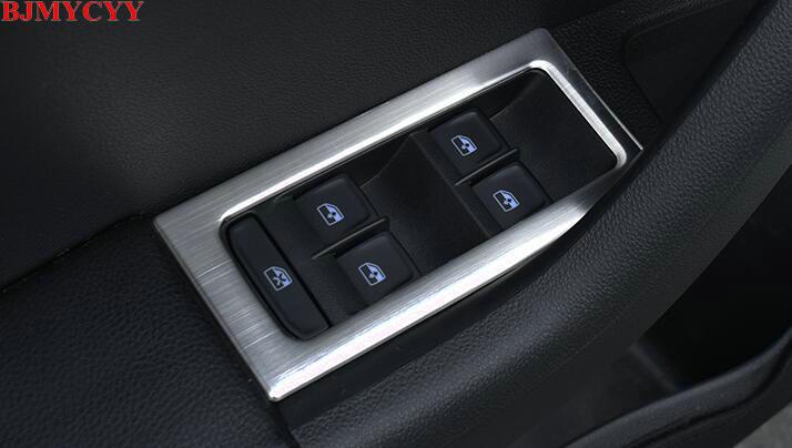 BJMYCYY voiture style Automobile verre levage interrupteur décoration cadre pour skoda octavia a7 2015 auto accessoires