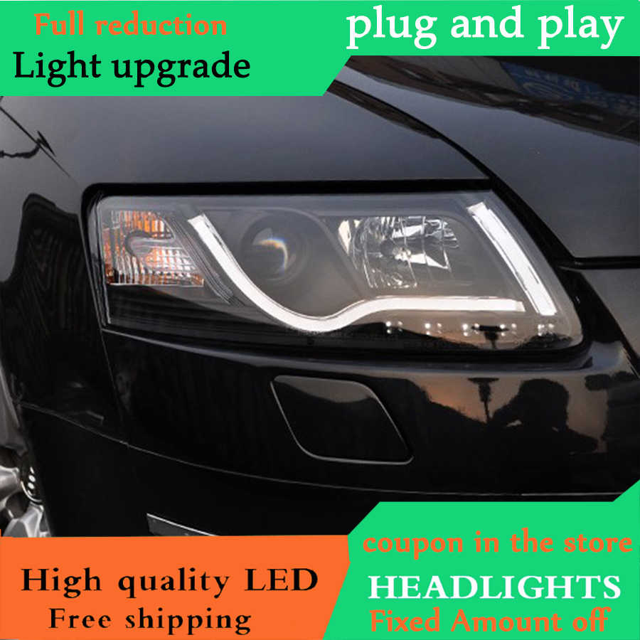 dy l car styling for audi a6 c5 headlights 2005 2012 a6 led headlight drl lens  [ 900 x 900 Pixel ]