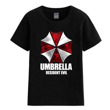 2017 summer child T-shirts UMBRELLA Resident Evil for girls boys children baby clothes casual T-shirt brand clothing top t shirt