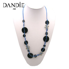 Dandie Fashion Three Colors River Shell Necklace, Statement Handmade Jewelry For Summer Daily Wear