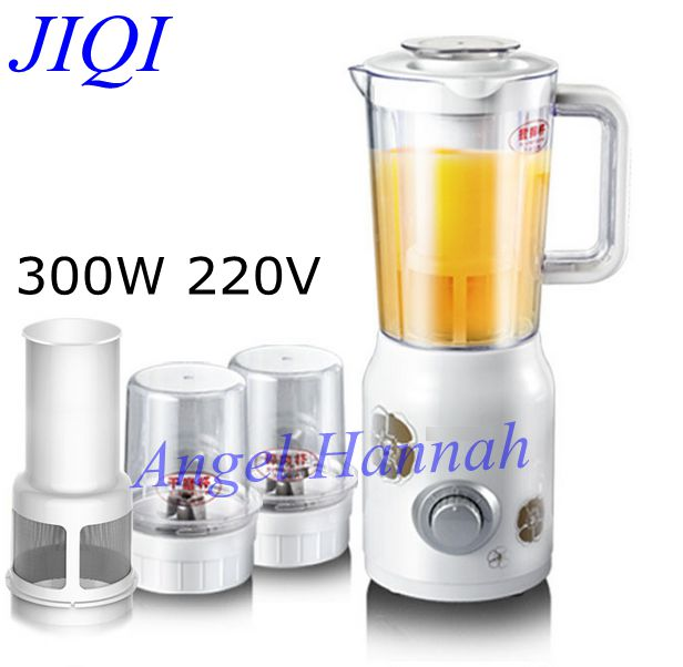 JIQI Juicer Soymilk juice machine multifunction household electric mixer baby food supplement cooking meat grinder 300w 220v 220v multifunction electric juicer household meat grinder kitchen food processor tool only with 1 juicer cup
