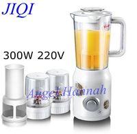 JIQI Juicer Soymilk juice machine multifunction household electric mixer baby food supplement cooking meat grinder 300w 220v