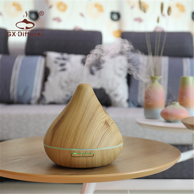 GX Diffuser Light Wood Aroma Diffuser Essential Oil Diffuser Aroma Lamp Aromatherapy Electric Air Humidifier Mist