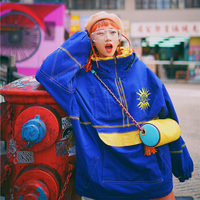 AIGYPTOS JWC Original Design Winter Women Vintage Novelty Personality Oversize Embroidery Hooded Ski Suit Thick Padded