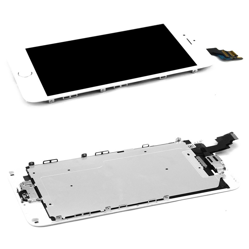 5 PCS/LOT Black White LCD Display For iPhone 6 Plus+5.5 Touch Screen Touch Panel Glass Sensor Digitizer Assembly Replacement 1 pcs for iphone 4s lcd display touch screen digitizer glass frame white black color free shipping free tools