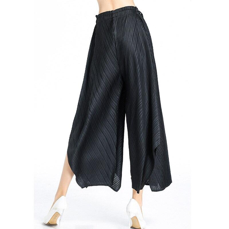 Large Femelle De Taille Avec Neuf Gratuite Ceinture Pantalon Livraison Noir Pliage Jambe rqxTErZ