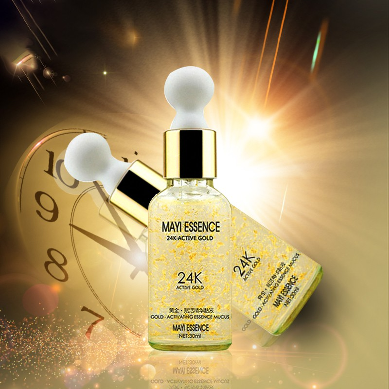 24K Gole Whitening Hyaluronic Acid Essence Face Care Anti Wrinkle Anti Aging Collagen Liquid Skin Whitening Cream Moisturizing