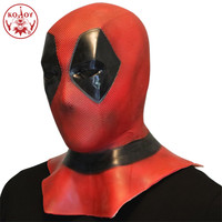 6c07ac5afe Latex Mask Deadpool Accessories Cosplay Costume Deadpool 2 Headwear Mask Adults  Halloween Party Red Props