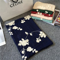 Super cotton linen embroidery embroidered female super sunscreen shawl long 180*65cm flower scarf