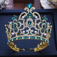 Cc Большой диадема и короны обручальные свадебные аксессуары